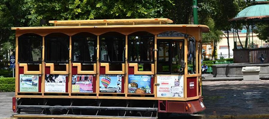 Tourists' Tram Car in Tlaxcala