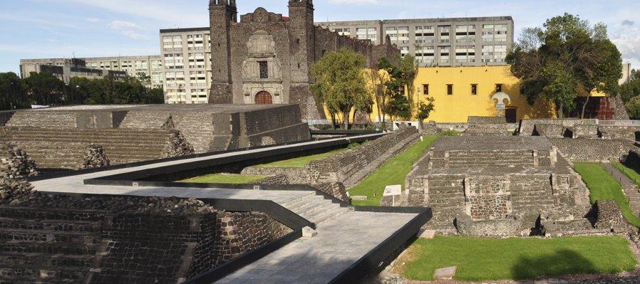 Tlatelolco donde se unen tres culturas. Ciudad de México