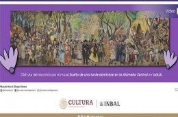 Recorrido del mural Sueño de una tarde dominical en la A...