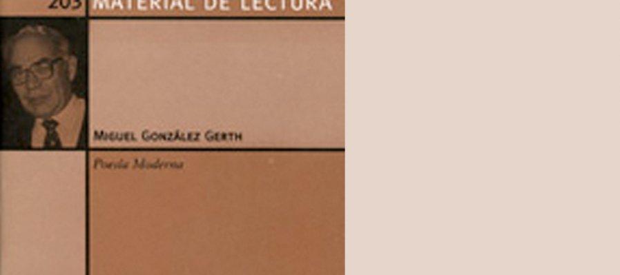 Poesía de Miguel González Gerth