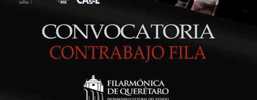 Convocatoria contrabajo de fila en la orquesta filarmónica del estado de Querétaro