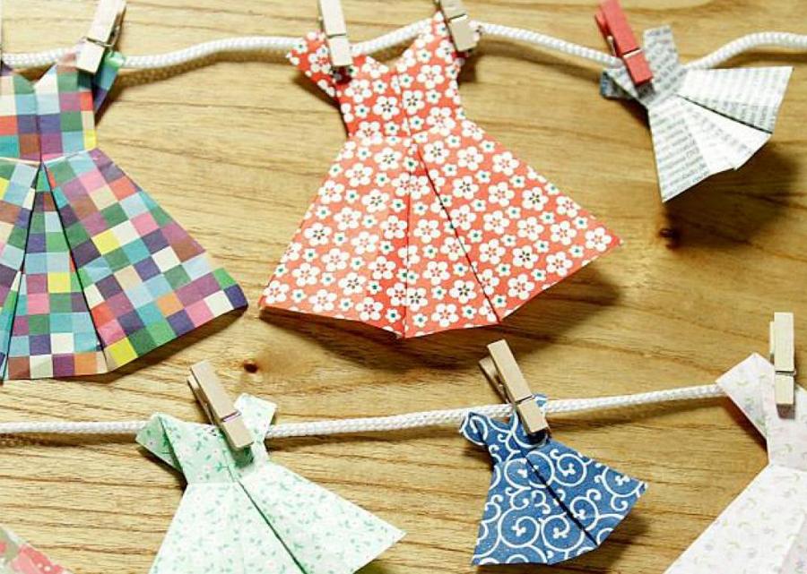Vestidos de origami