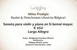 Conciertos guiados. Violin y piano con Fleischmann y Rask...