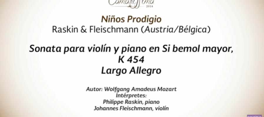 Conciertos guiados. Violin y piano con Fleischmann y Raskin