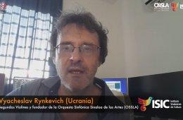 Vyacheslav Rynkevich, segundo violines de OSSLA con Taran...