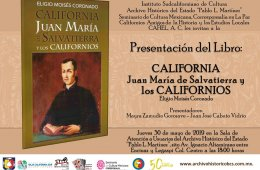 California. Juan María de Salvatierra y los californios