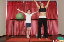 Yoga para niños con Pilar Cristina Carrillo y Ángel Zei...