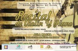 Recital de piano y violín
