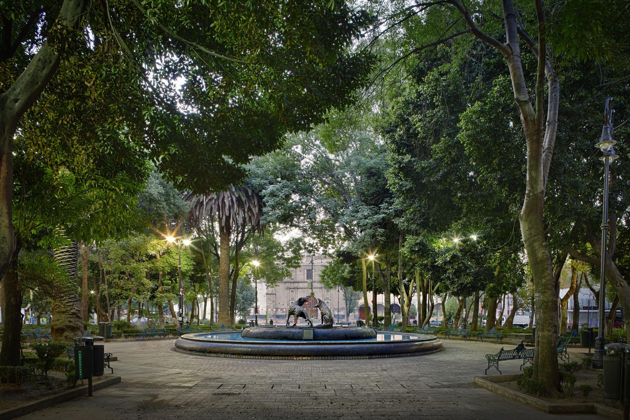Vista del Jardín Libertad de Colima
